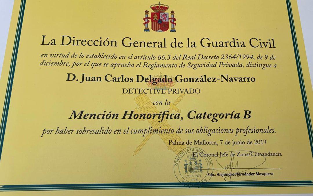 Mención honorífica a Detectib por su colaboración con las fuerzas del Estado